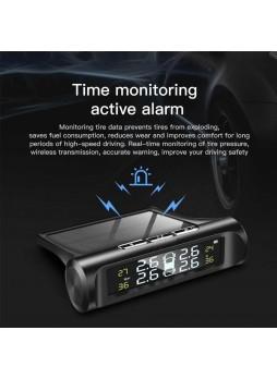 PROOCAM AJ-50 Smart Car TPMS Tyre solar Pressure Monitoring LCD warning System monitor