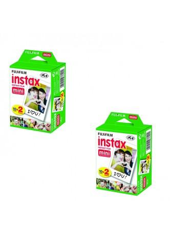 Fujifilm Twin Pack (20sheet) Instax Original Film for Mini 8 7 (2Pack Set)