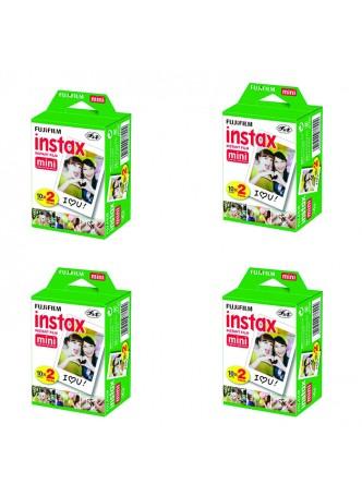 Fujifilm Twin Pack (20sheet) Instax Original Film for Mini 8 7 (4Pack Set)