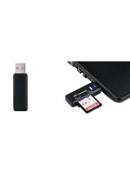 JJC CR-SDMSD1 Card Reader fits SD (SDHC) and Micro SD Memory cards