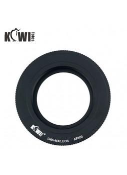KIWIFOTOS Zeiss Pentax M42 Lens To Canon EOS Camera Body Mount Adapter ( LMA-M42_EOS)