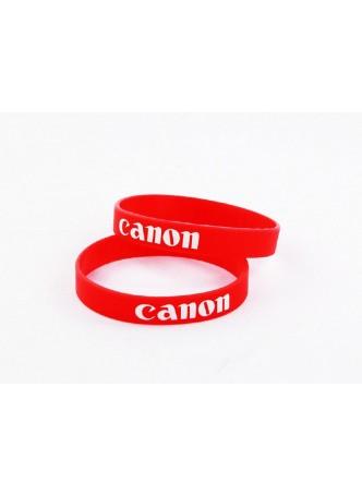 Silicone Rubber Lens Band ,Flash Band ,Wrist Band Canon Logo Design