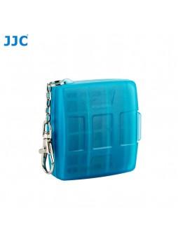 JJC MC-11B Memory Card Holder case fit for 4SD 4MicroSD (BLUE)