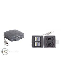 JJC MC-11D Memory Card Holder case fit for 4SD 4MicroSD (GREY)