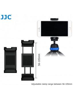JJC SPC-A Blue Smart Phone holder 56-105mm Clip with Hot Shoe for Led Light