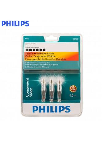 Philips 1.5Meter, TV Component Av cable 24K Gold Plate Material - SWV3302S/10