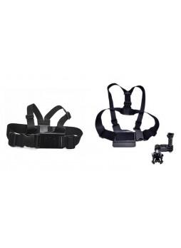 Proocam Pro-J025 Chest Body Strap with 3-way adjustment base for Gopro Hero , SJCAM, Miyi Camera