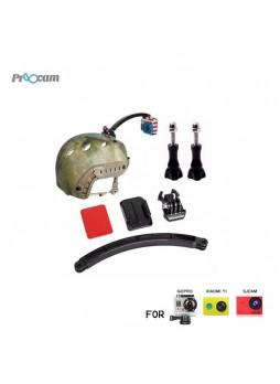 Proocam Pro-J079 Helmet Arm Mount and Screws set for Gopro Hero , SJCM , MI YI action camera