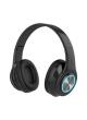 Proocam B-39BK Macaron LED Colorful Light 5.0 Bluetooth Headset Wireless Earphones HiFi Stereo Bluetooth Headphone Black