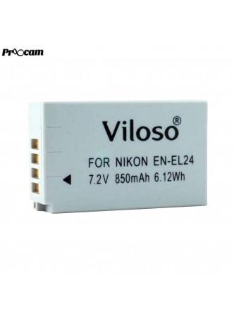 Proocam Viloso EN-EL24 rechargeable Camera battery for Nikon 1 J5 Mirrorless Digital Camera