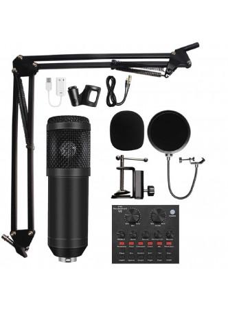 Proocam BM-880 microphone studio mic sound card condenser video recorder live stand usb computer phone