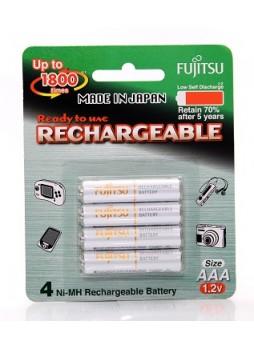 Fujitsu Rechargeable AAA Ready to use Battery 800mah (Min 750mah) 4pcs Pack HR-4UTAEX(4B)