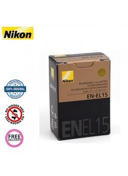 Nikon En-El15 Original Rechargeable Battery for D7100 , D610 , D810 , D750  D800 , D600 , D7000 (Nikon Malaysia)