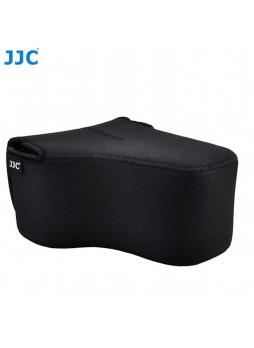 JJC OC-MC0BK Neoprene Camera Case with lens for Canon / Nikon / Fujifilm (Black)