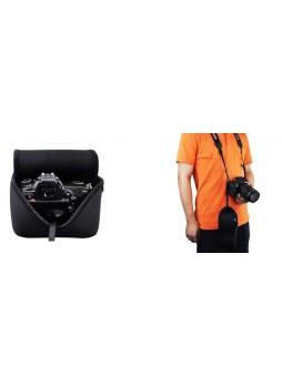 JJC OC-MC1BK Black Neoprene Camera Case Bag Protector For Canon and nikon (Black)