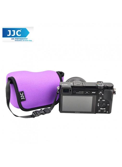 JJC OC-S1PE Neoprene Camera Case Mirrorless For Sony, Canon Camera Pouch Bag (Purple)