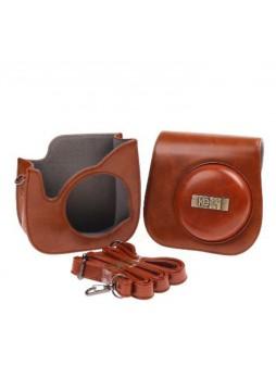 KEEP design for Fujifilm Instax Mini 8 Lens Pop Leather Case bag mini8 (Brown)
