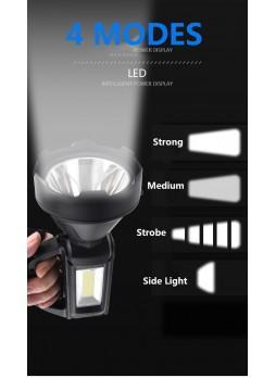 LP-899 usb Re-Chargable Flashlight Super Bright Portable SOLAR LED LIGHT Searchlight Lantern Searchlight outdoor Mountable