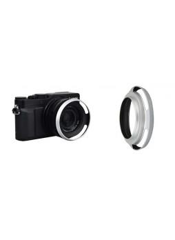 JJ LH-43LX100 Lens Hood for Panasonic Lumix DMC-LX100 and Leica D-Lux (Silver)