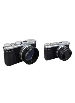 JJC LH-JX70 Black Metal Lens Hood For Fujifilm X70 Camera