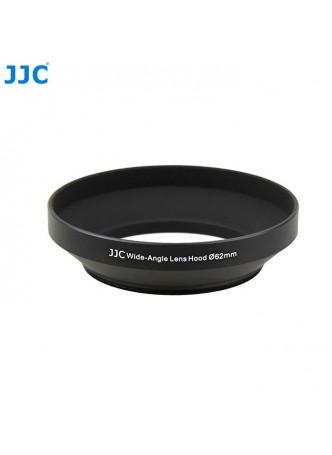 JJC LN-62W 62mm Screw-in Mount Standard Aluminum Metal Lens Hood for Wide-Angle Lenses