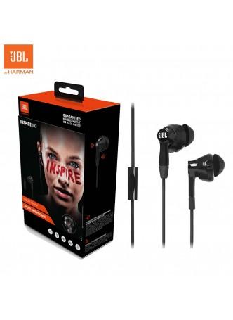 JBL Inspire 300 In-Ear Sport Headphones Black by Harman US Sweat proof for Smartphone