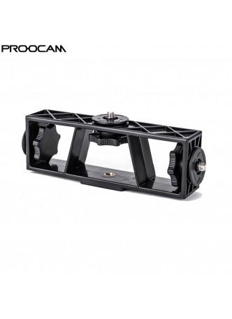 Proocam BRK-03 3 side hot screw Multi-position Mobile Phone Live Broadcasting Support Clip Bracket Holder Mount Adapter