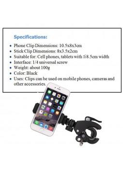 Proocam CLP-1 Phone Video Holder Tripod Flexible Vertical Clip Bracket Mount Camera