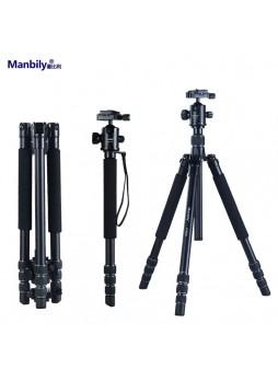 Manbily AT425K Professional Aluminium Portable travel folding tripod for Camera (Load 15KG)