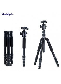 Manbily AT525K Professional Aluminium Portable travel folding tripod for Camera (Load 15KG)