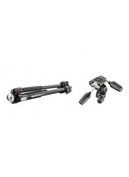 Manfrotto MT190XPRO3 Pro Aluminum Tripod Black with 804RC2 3-Way Pan/Tilt Head ( MT190XPRO3,804RC2 )