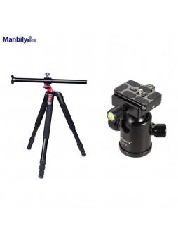 Manbily Tripod with ballhead Camera Arm Low Angle Macro 4 section tripod (MPT-284   KBH-10 )