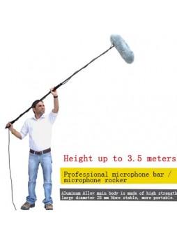 Manbily ABP-35 Professional Portable Aluminum 4-Section Microphone Pole (300cm)