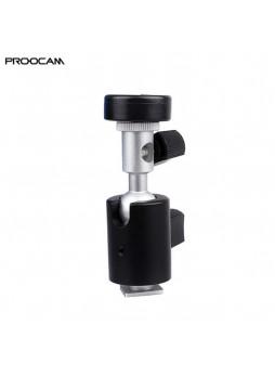 Proocam FB-02 BallHead tripod screw Mount Umbrella Bracket for Speedlite Flash