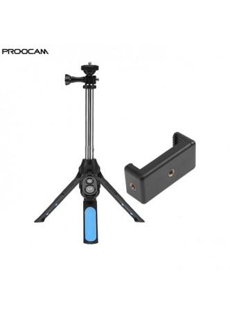 PROOCAM MP-22 muilti monopod mobile tripod with bluetooth remote control monopod selfie stick