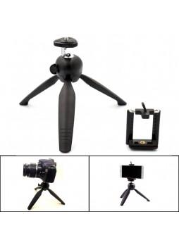 Proocam 230 Mini Tripod with Phone Holder Clip Desktop Self-Tripod For SLR Camera