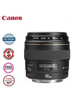 Canon EF 100mm F2.0 USM Camera Lens (Malaysia Canon)