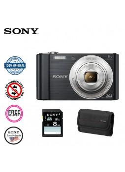 Sony Cyber-shot DSC W810 Digital Camera-Black (Malaysia Sony) Case +Memory Card