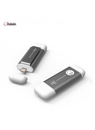 Adam Elements iKlips 32GB Apple Lightning OTG MFI fastest flash drive for iPhone iPad - ADRAD32GKLPSL (Silver)